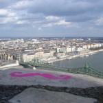 View from Gellért Hill and a pink mustache