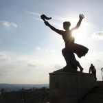 A Statue at the top of Gellért Hill